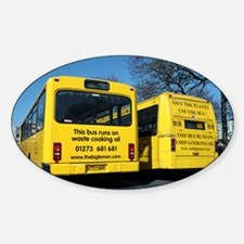 Waste cooking oil buses - Decal