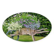Wooden wheelbarrow planter - Decal