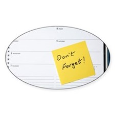 Diary reminder, post-it note - Decal