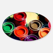 Paint pots - Sticker (Oval)