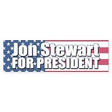 JON STEWART FOR PRESIDENT Bumper Car Sticker