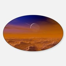 Saturn from the surface of Titan - Decal
