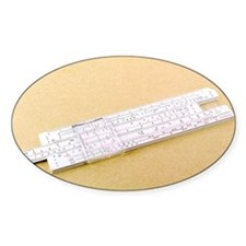 Logarithmic slide rule - Decal