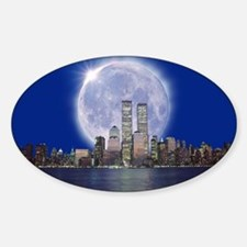 Total solar eclipse - Sticker (Oval)