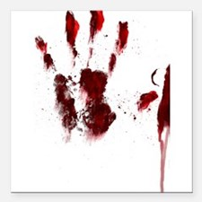 """The Red Hand Square Car Magnet 3"""" x 3"""""""