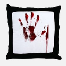 The Red Hand Throw Pillow