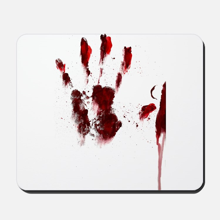 The Red Hand Mousepad