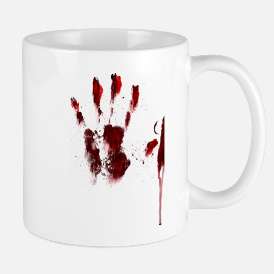 The Red Hand Mug