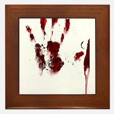 The Red Hand Framed Tile