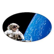 Astronaut performing a spacewalk - Decal