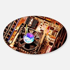 Computer circuit board - Sticker (Oval)