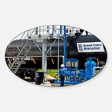 Corn ethanol processing plant - Sticker (Oval)