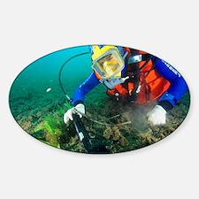 Finding evidence underwater - Sticker (Oval)