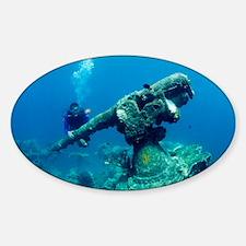 Diver with sunken gun - Decal
