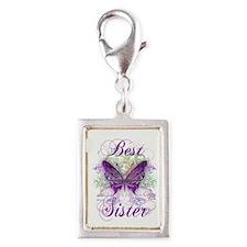 Best Sister Silver Portrait Charm