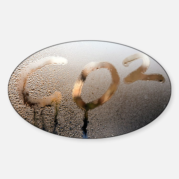 Global warming, conceptual image - Sticker (Oval)