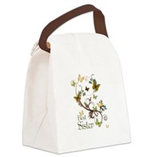 Best Sister Canvas Lunch Bag