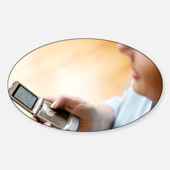 Mobile telephone - Sticker (Oval)