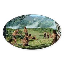 Neanderthals in summer, artwork - Decal