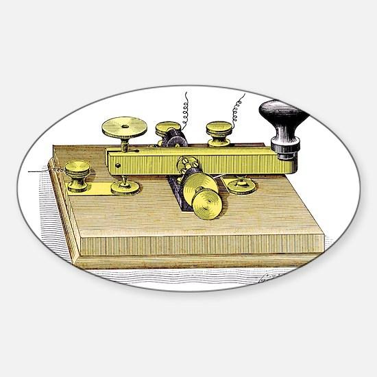 Morse telegraph key - Sticker (Oval)
