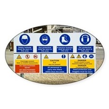 Oil refinery safety signs - Decal