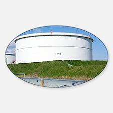 Oil refinery storage tank - Decal