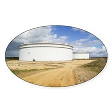 Oil refinery storage tanks - Decal