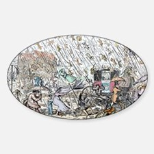 Raining cats and dogs - Sticker (Oval)