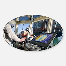 Tugboat - Sticker (Oval)