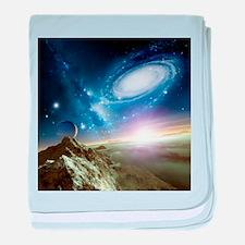 Colliding galaxies, artwork - Baby Blanket