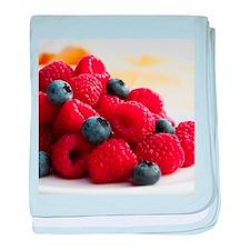 Blueberries and raspberries - Baby Blanket