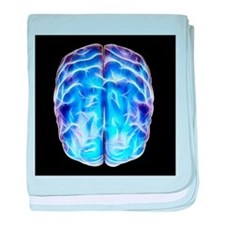 Electrical activity in the brain - Baby Blanket