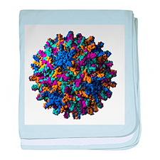 Hepatitis B virus particle - Baby Blanket