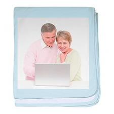 Laptop use - Baby Blanket