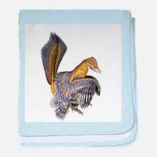 Microraptor dinosaur - Baby Blanket