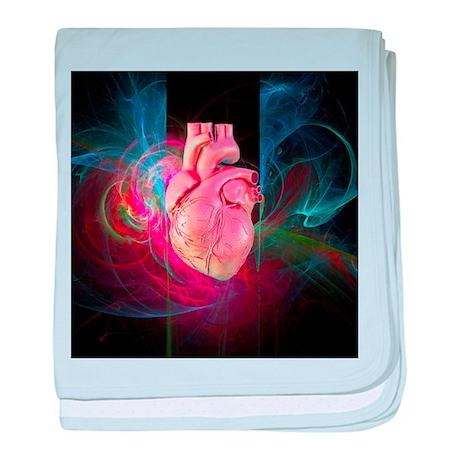 Human heart, artwork - Baby Blanket