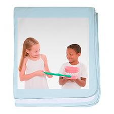 Learning dental hygiene - Baby Blanket