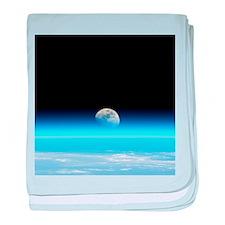 Moonrise over Earth - Baby Blanket