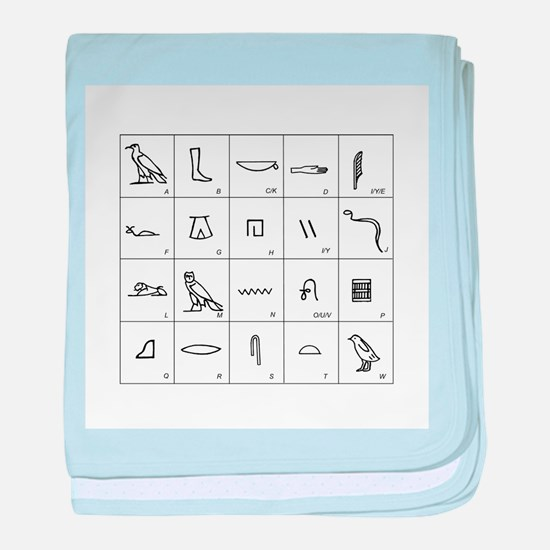 Phonetic Egyptian hieroglyphs - Baby Blanket