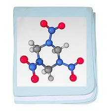 RDX explosive molecule - Baby Blanket