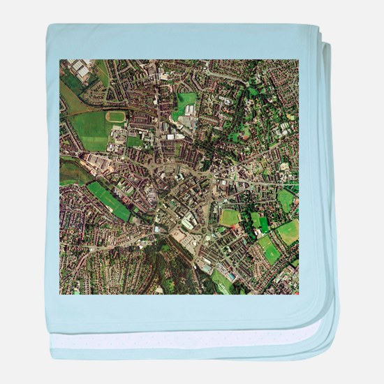 Stoke-on-Trent, UK, aerial image - Baby Blanket