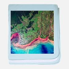 River deltas in Borneo - Baby Blanket