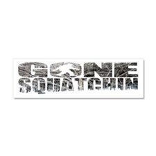 Gone Squatchin *Winter Woods Edition* Car Magnet 1