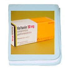 Diclofenac painkiller tablets - Baby Blanket