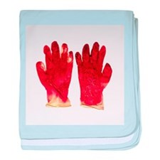 Blood-stained surgical gloves - Baby Blanket