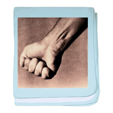 Man's clenched fist - Baby Blanket