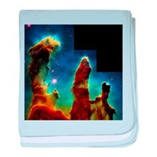 Gas pillars in Eagle Nebula - Baby Blanket