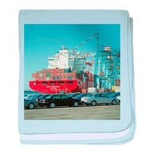 Container ship - Baby Blanket