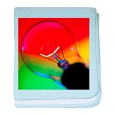 View of an lit electric light bulb - Baby Blanket