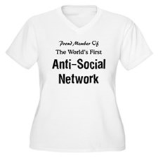 Anti-Social Network Women's Plus Size V-Neck Tee